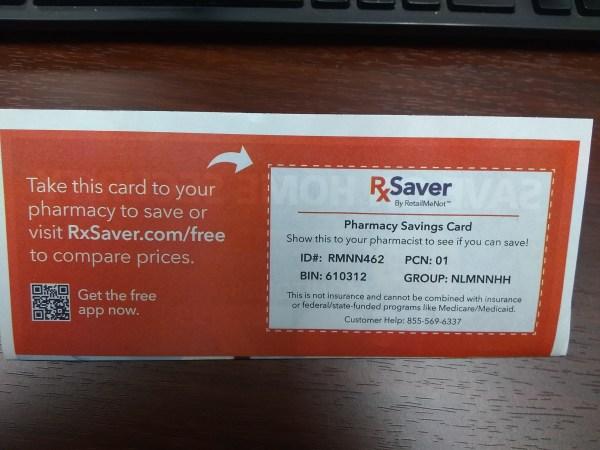 RxSaver pharmacy savings card