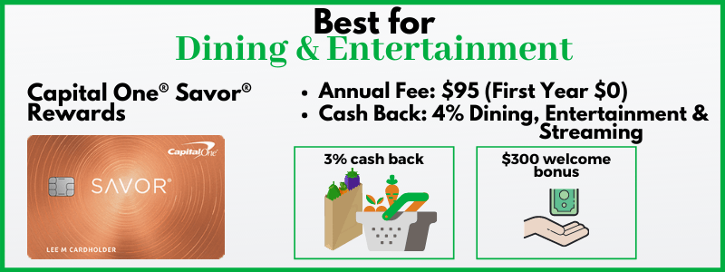Capital One Savor dining and entertainment credit card