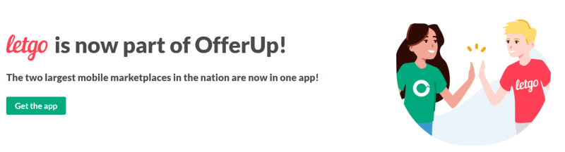 OfferUp blog announcement that letgo is now part of OfferUp's marketplace.