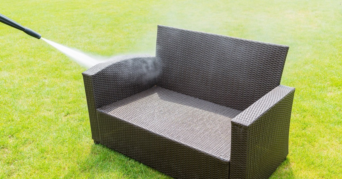 Using a pressure washer to clean furniture can help you save money