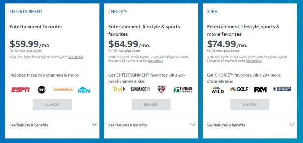 AT&T TV promo rates