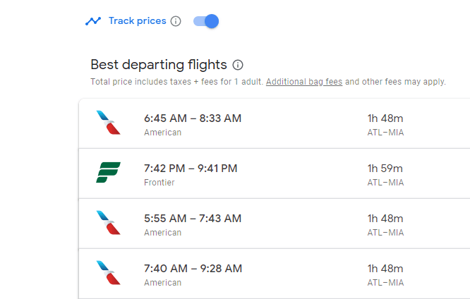 "How to save money on Google Flights by using the ""track prices"" tool"