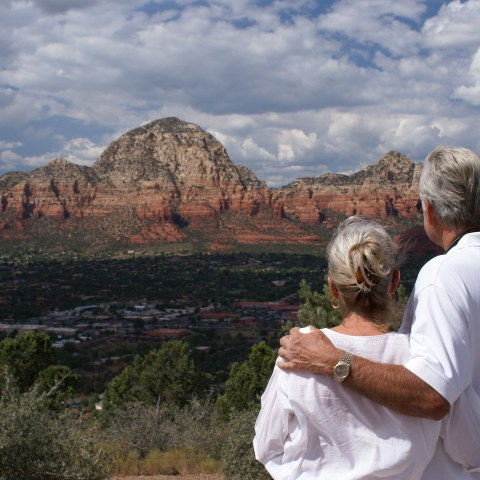 Couple enjoying Sedona, Arizona