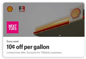 Can you really save money with T-Mobile Tuesdays? 10 cents per gallon at Shell