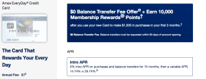 American Express Everyday balance transfer offer
