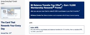 American Express Everyday balance transfer offer