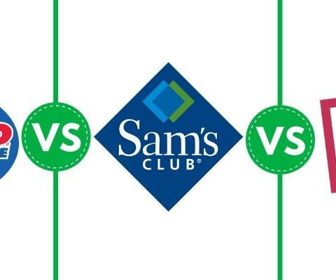 Costco Wholesale vs. Sam's Club vs. BJ's Wholesale Club graphic