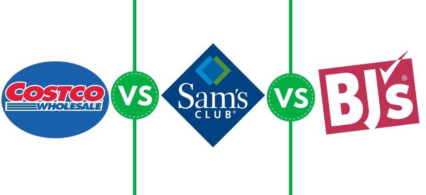 Costco Wholesale vs. Sam's Club vs. BJ's Wholesale Club graphic