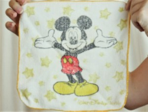 mickey mouse washcloth