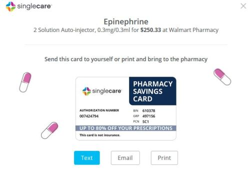 SingleCare coupon