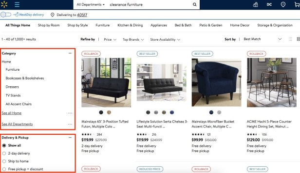 How to shop for affordable furniture at Walmart