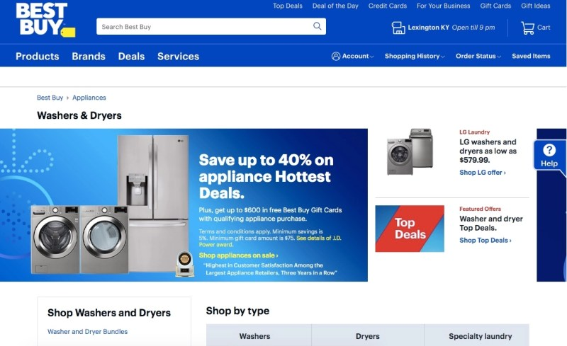 Best Buy Washers & Dryers