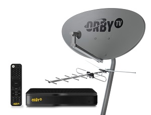 Satellite dish, antenna and receiver (Image: Orby TV)