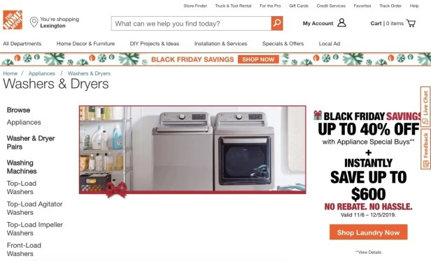 The Home Depot Washers & Dryers