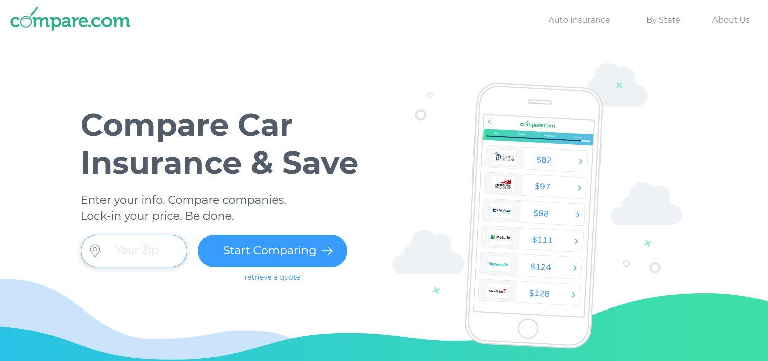 Screenshot of Compare.com