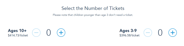 ticket price per age