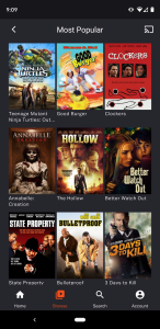 You can sort by popular content on the Tubi app.
