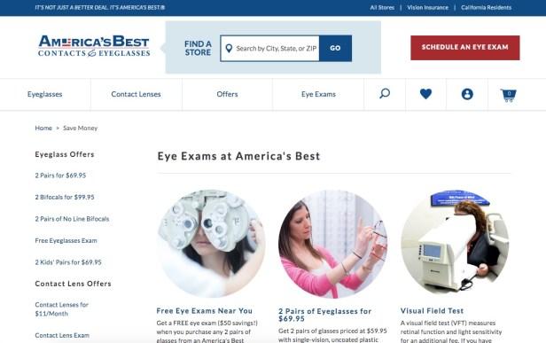 America's Best free eye exams