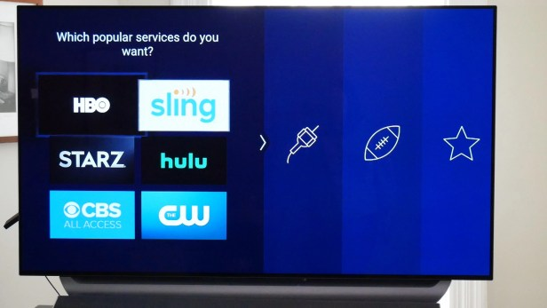 Choose Amazon Fire TV stick channels.