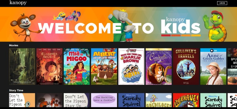 Kanopy offers children's programming with Kanopy Kids.