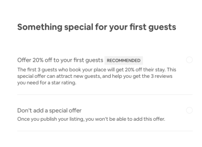 Airbnb special offer