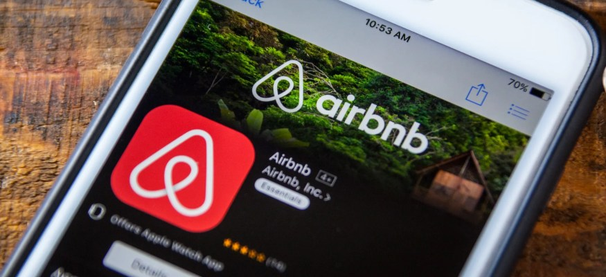 Airbnb app on phone