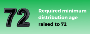 required minimum distribution age raised to 72