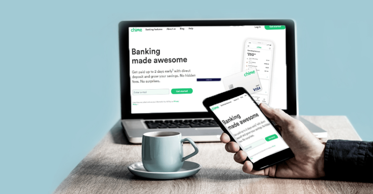 Chime Bank on a smartphone and desktop computer