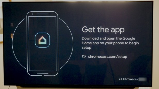 Looking at Google home app instructions on Google Chromecast