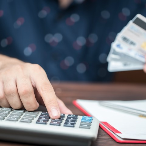 Adding up credit card debt