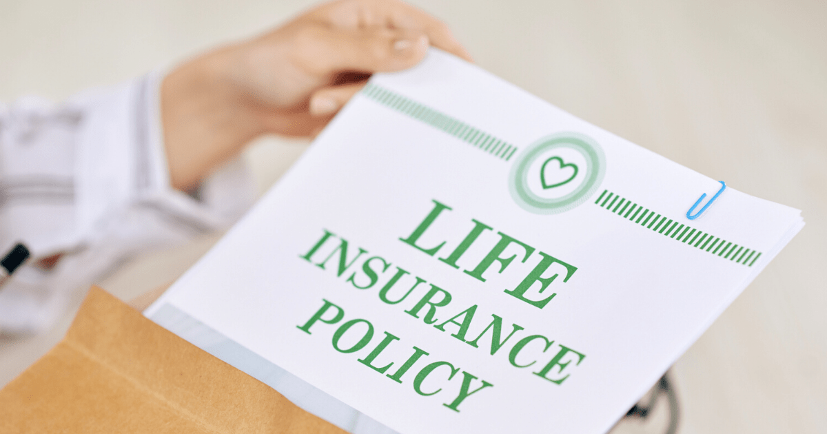 Agent with contract of life insurance policy