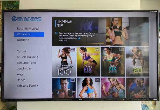 Beachbody On Demand streaming on Roku TV