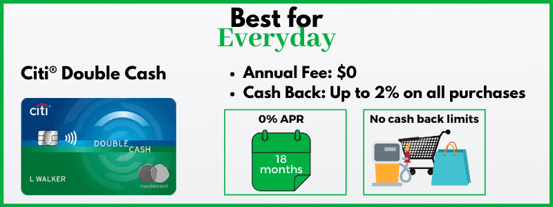 Citi Double Cash is a popular cash back card because it offers unlimited 2%.