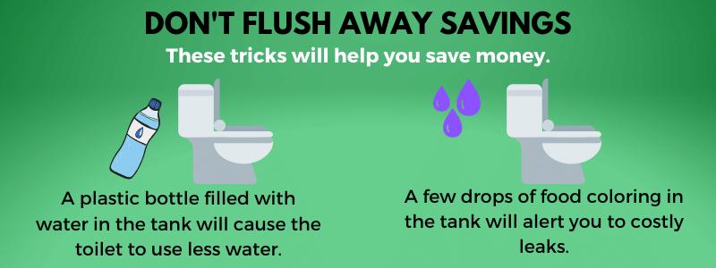 Flush your toilet