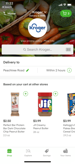 Kroger on Instacart