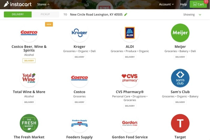 Stores that partner with Instacart