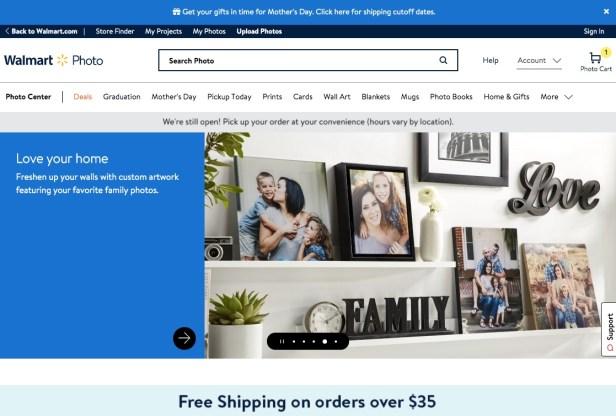 Walmart Photo website