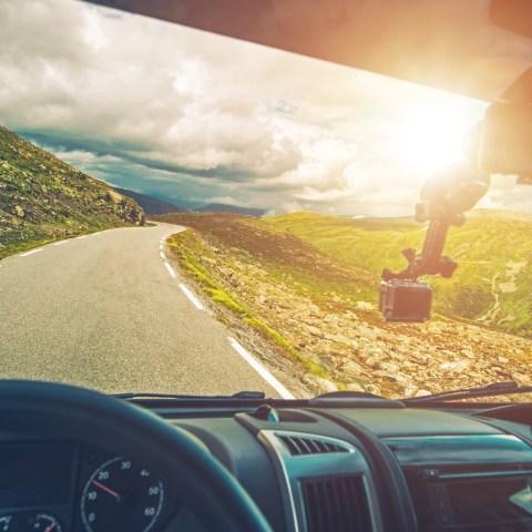 RV on Road Trip