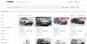 CarMax Browse Page