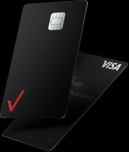 The Verizon credit card has a sleek black design.
