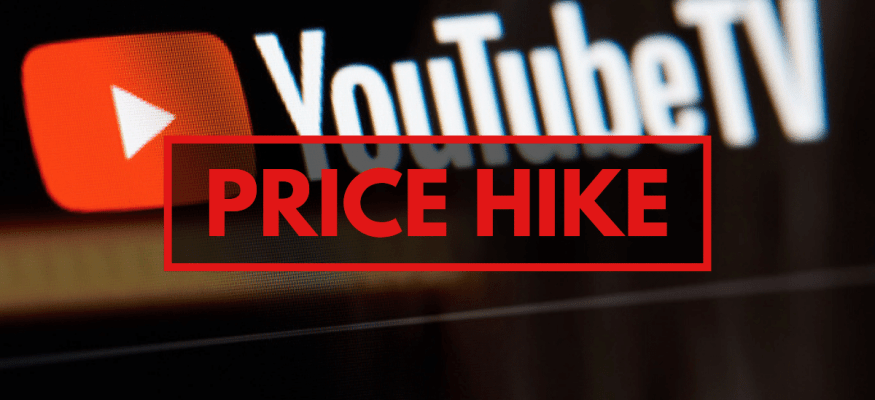 YouTube TV Price Hike