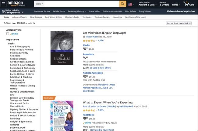 Amazon used books online