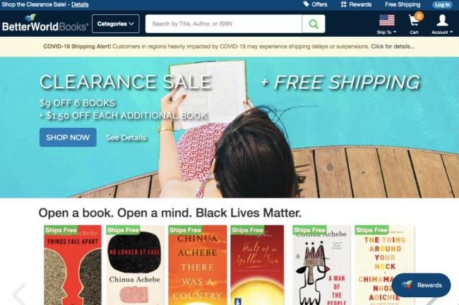 Better World Books online homepage
