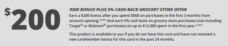 The Chase Freedom and Chase Freedom Unlimited welcome bonus now includes grocery cash back.