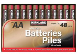 Kirkland Signature AA batteries available at Costco