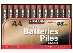 Kirkland Signature AA batteries available at Costco