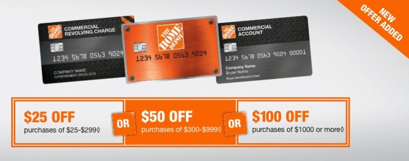 Home Depot offers deals exclusive to credit card members.