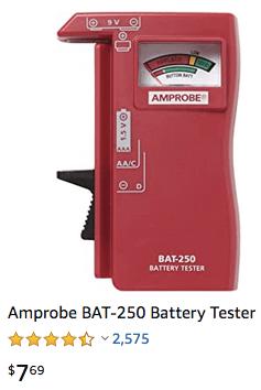 Amprobe battery tester
