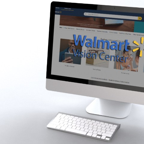 Story Image: A computer displaying Walmart Vision Center online