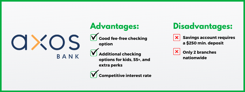 Axos Bank gives consumers a lot of good, customizable choices for checking accounts.